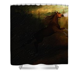 Storm Spooked Shower Curtain by Angela A Stanton