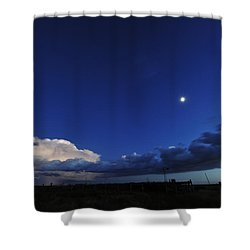 Storm Stars And Moon Shower Curtain