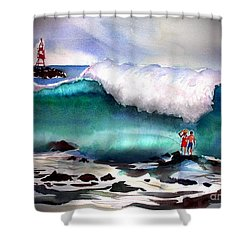 Storm Surf Moment Shower Curtain