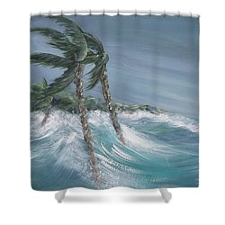 Storm Surge Shower Curtain