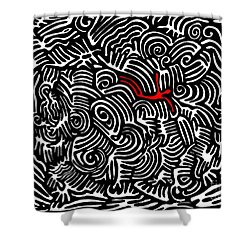 Storm Tossed Shower Curtain by Sarah Loft