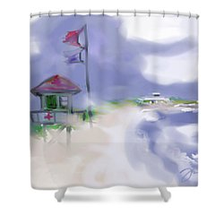 Storm Warning Shower Curtain