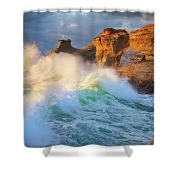 Shower Curtain featuring the photograph Storm Watchers by Darren White
