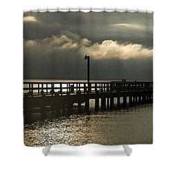 Storms Brewin' Shower Curtain by Clayton Bruster