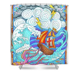 Storms Of Life Shower Curtain by Jennifer Allison