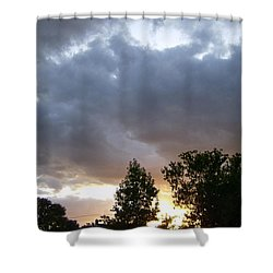 Storms On The Horizon Shower Curtain