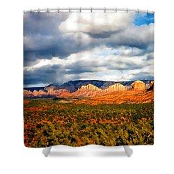 Stormwatch Arizona Shower Curtain by Kurt Van Wagner
