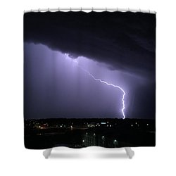 Stormy Art On The Prarie Shower Curtain