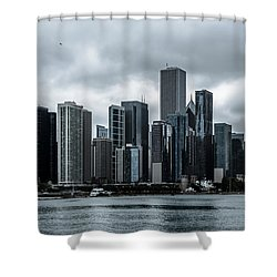 Stormy Chicago  Shower Curtain