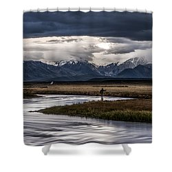 Stormy Day Of Fishing Shower Curtain