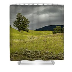 Stormy Fields Of Yellow Shower Curtain