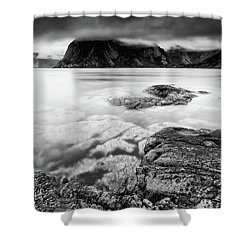 Stormy Lofoten Shower Curtain