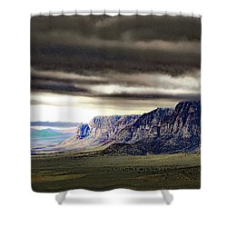 Stormy Morning In Red Rock Canyon Shower Curtain
