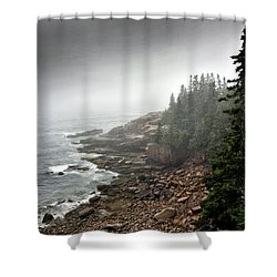 Stormy North Atlantic Coast - Acadia National Park - Maine Shower Curtain