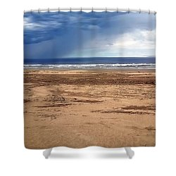 Stormy Nye Beach Shower Curtain by Jerry Sodorff