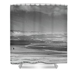 Stormy Oceanside Oregon Shower Curtain