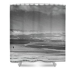 Stormy Oceanside Oregon Shower Curtain