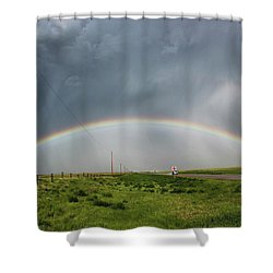 Stormy Rainbow Shower Curtain by Ryan Crouse