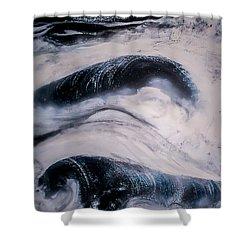 Stormy Rhythms Shower Curtain