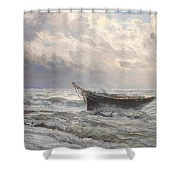 Stormy Seas Shower Curtain by Henry Moore