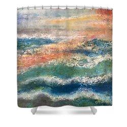 Stormy Seas Shower Curtain by Kim Nelson