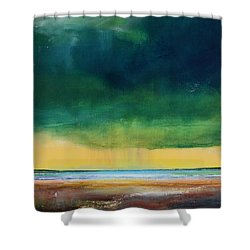 Stormy Seas Shower Curtain by Toni Grote