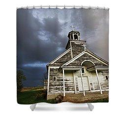 Stormy Sk Church Shower Curtain