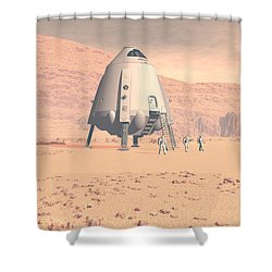 Stormy Skies Shower Curtain by David Robinson