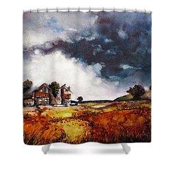 Stormy Skies Shower Curtain by Geni Gorani