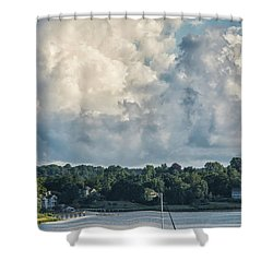 Stormy Sunday Morning On The Navesink River Shower Curtain by Gary Slawsky