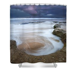 Stormy Sunrise Shower Curtain by Mike  Dawson