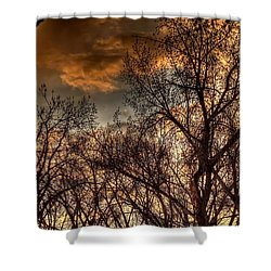 Stormy Sunset 14151 Shower Curtain by Jerry Sodorff