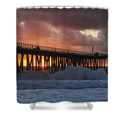 Stormy Sunset Shower Curtain by Ed Clark