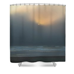Shower Curtain featuring the photograph Stormy Sunset Oregon Coast by Yulia Kazansky