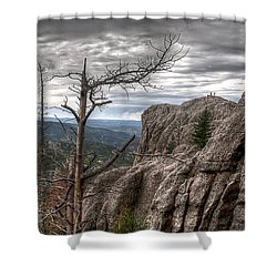 Stormy Trail Shower Curtain by Deborah Klubertanz