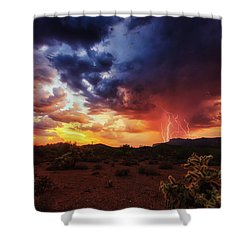 Stormy Twilight Shower Curtain by Rick Furmanek