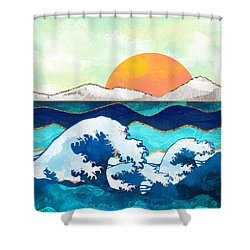 Stormy Waters Shower Curtain