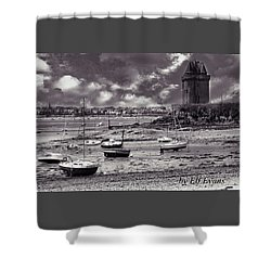 Shower Curtain featuring the photograph Stormy Weather by Elf Evans