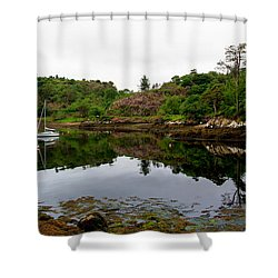 Shower Curtain featuring the photograph Stornoway Calm by Rasma Bertz