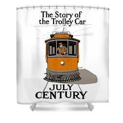 Story Of The Trolley - Vintage Americana Shower Curtain
