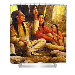 Story Teller Shower Curtain