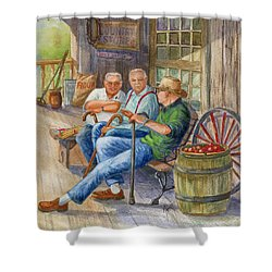 Storyteller Friends Shower Curtain by Marilyn Smith