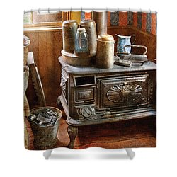 Stove - Remember The Good Ol Days When  Shower Curtain by Mike Savad
