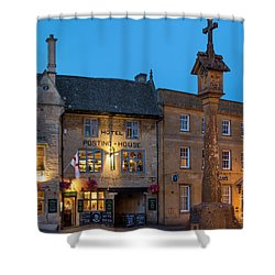 Shower Curtain featuring the photograph Stow On The Wold - Twilight by Brian Jannsen