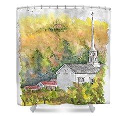 Stowe Community Church, 1839, Stowe, Vermont Shower Curtain