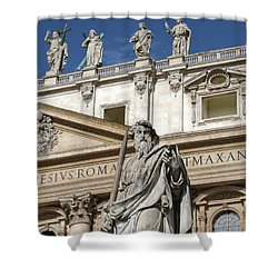 St.peter Statue At The Vatican Shower Curtain