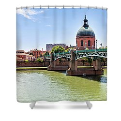 Shower Curtain featuring the photograph St.pierre Bridge In Toulouse by Elena Elisseeva