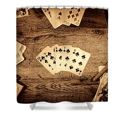 Straight Flush Shower Curtain by American West Legend By Olivier Le Queinec