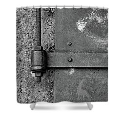 Shower Curtain featuring the photograph Straight Metal by Karol Livote