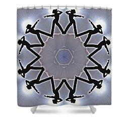Shower Curtain featuring the digital art Straight Shooter by Derek Gedney